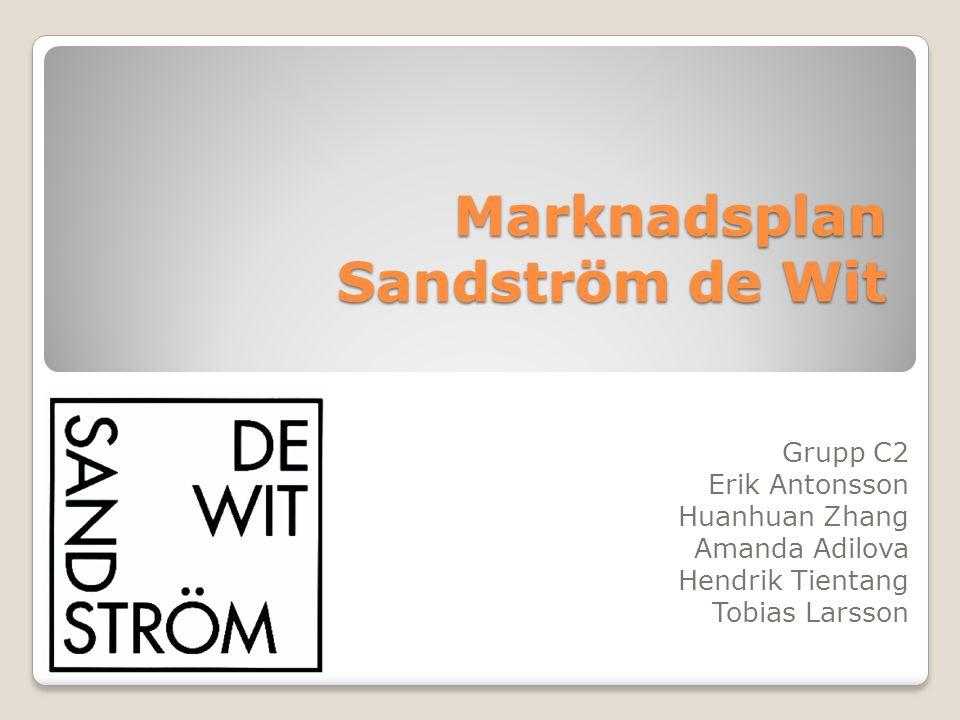 Marknadsplan Sandström de Wit