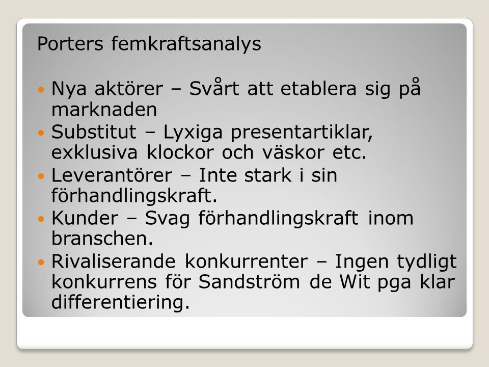 Porters femkraftsanalys