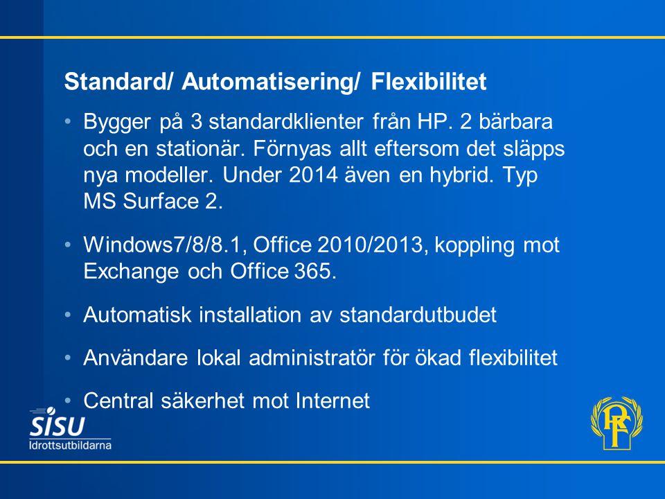 Standard/ Automatisering/ Flexibilitet