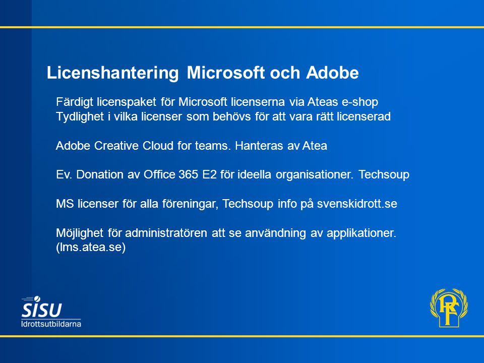 Licenshantering Microsoft och Adobe