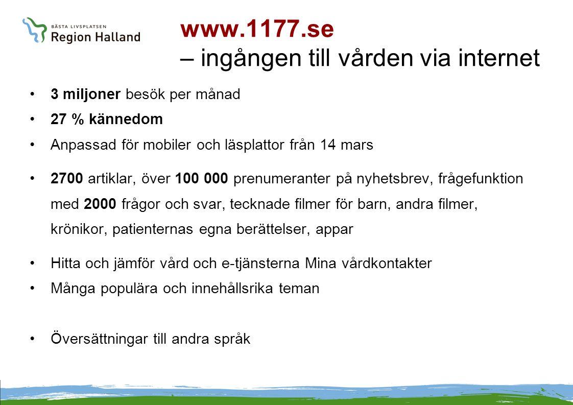 www.1177.se – ingången till vården via internet