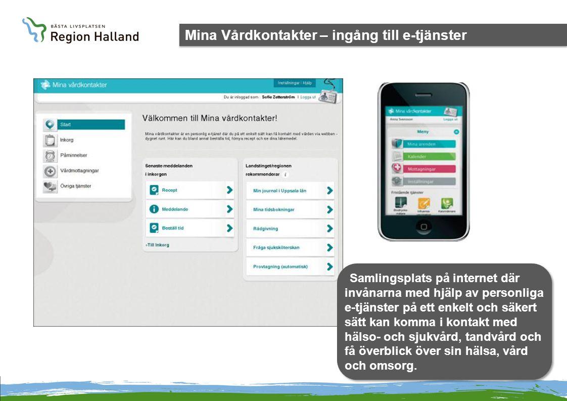 Mina Vårdkontakter – ingång till e-tjänster