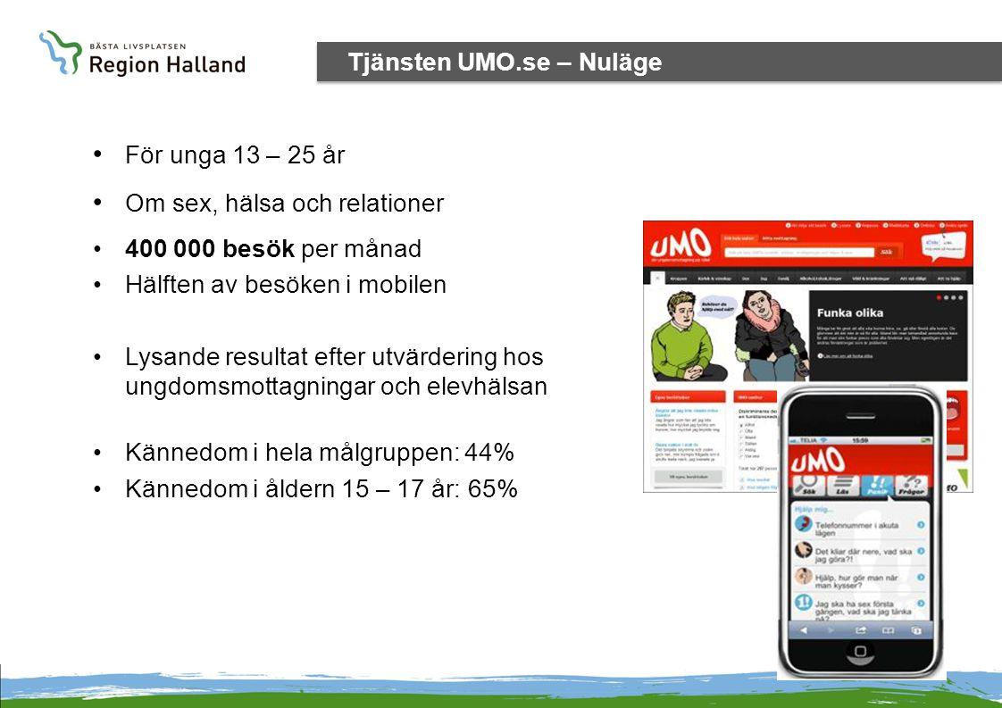 Tjänsten UMO.se – Nuläge