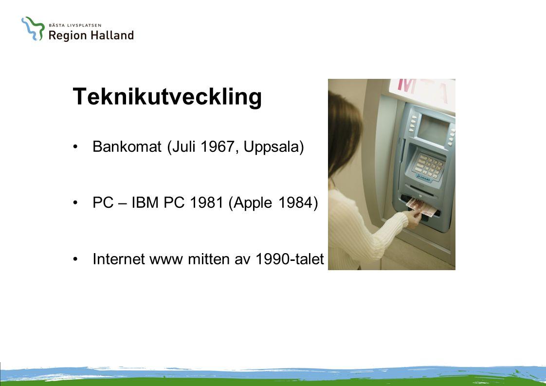 Teknikutveckling Bankomat (Juli 1967, Uppsala)