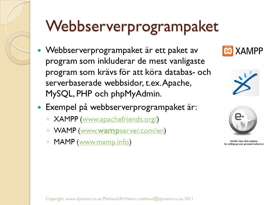 Webbserverprogrampaket