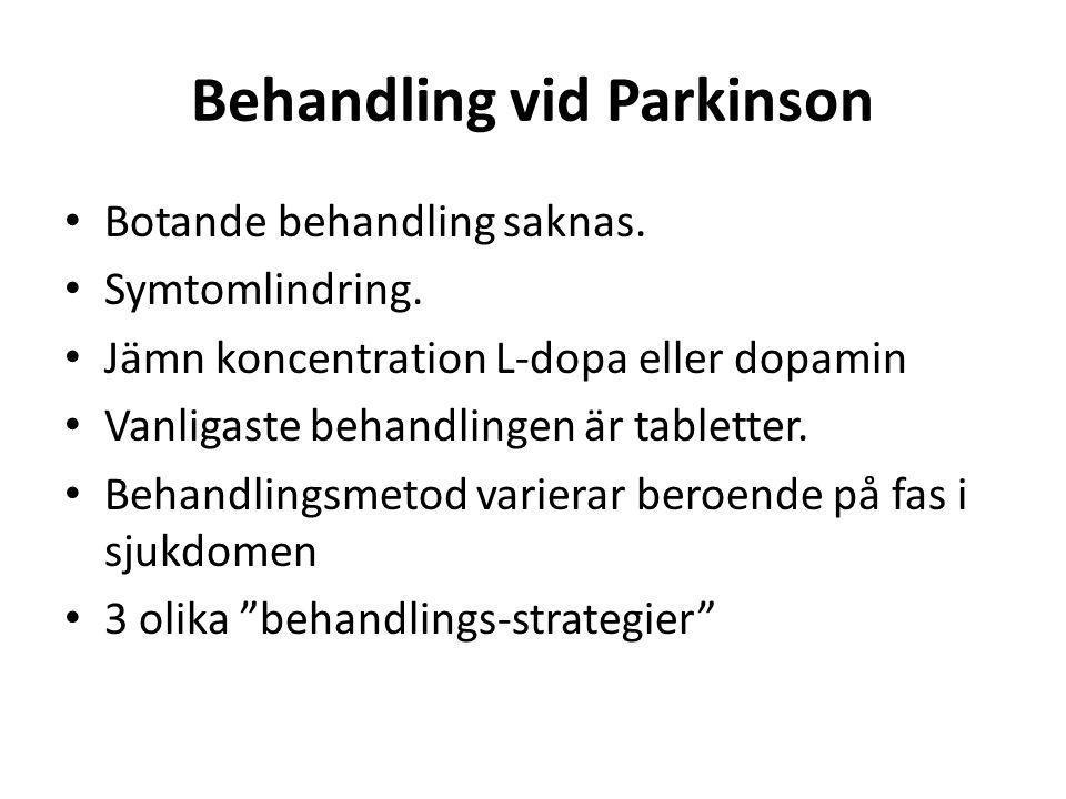 Behandling vid Parkinson