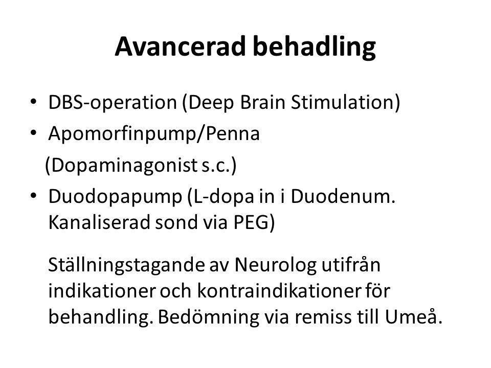 Avancerad behadling DBS-operation (Deep Brain Stimulation)