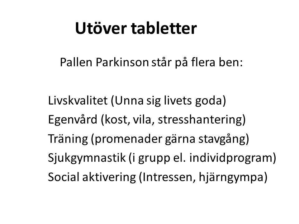 Utöver tabletter
