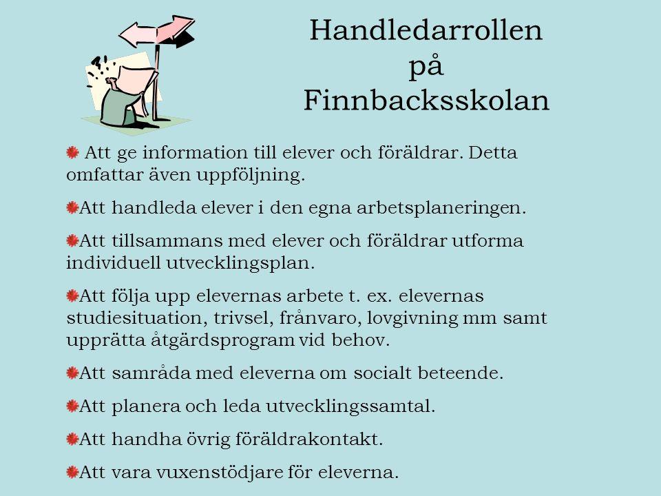Handledarrollen på Finnbacksskolan