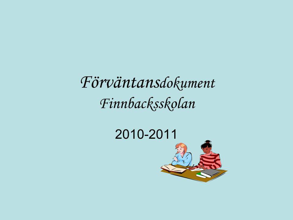 Förväntansdokument Finnbacksskolan
