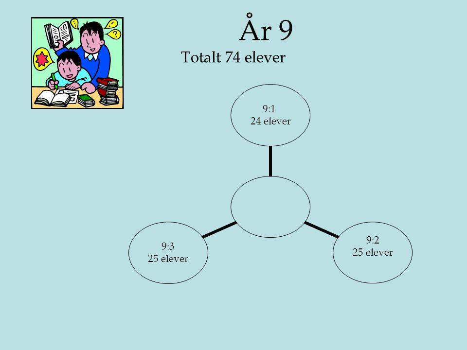 År 9 Totalt 74 elever