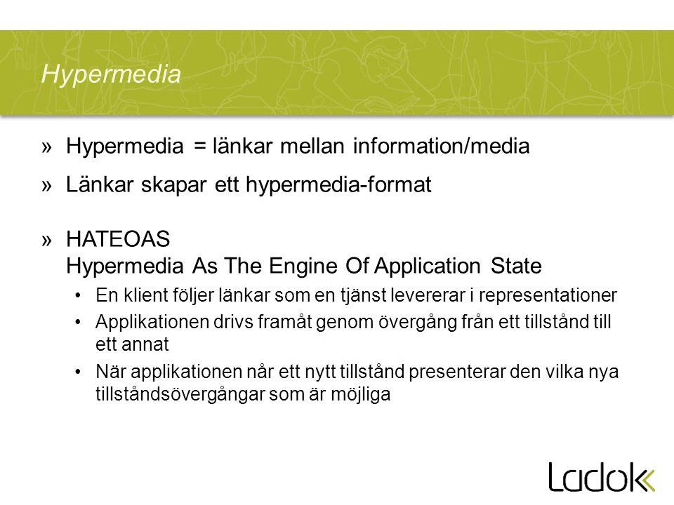 Hypermedia Hypermedia = länkar mellan information/media