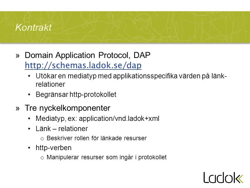 Kontrakt Domain Application Protocol, DAP http://schemas.ladok.se/dap