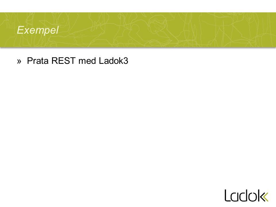 Exempel Prata REST med Ladok3