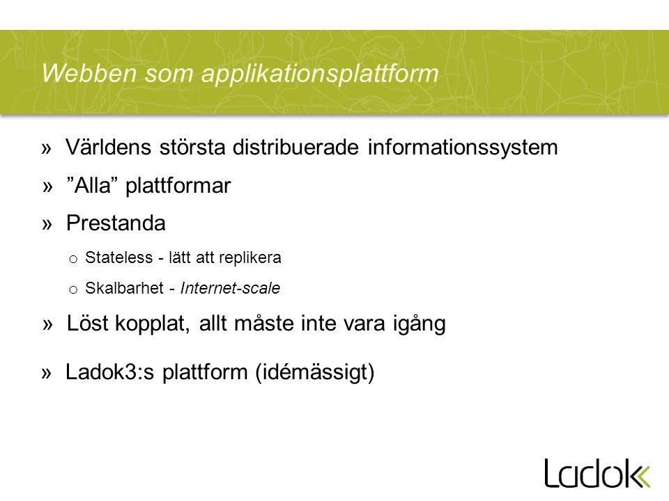 Webben som applikationsplattform