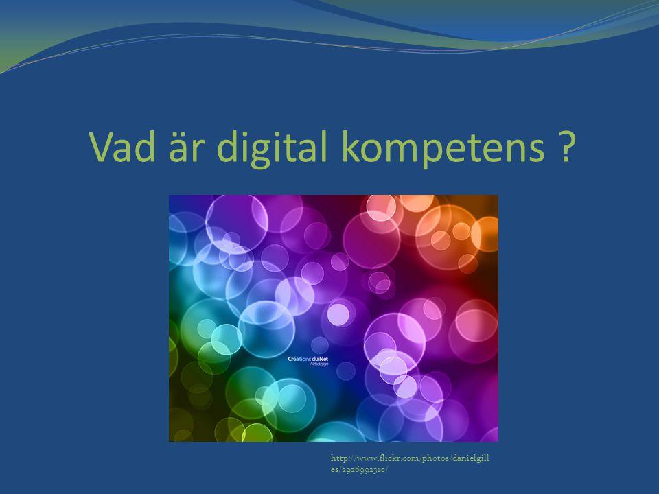 Vad är digital kompetens
