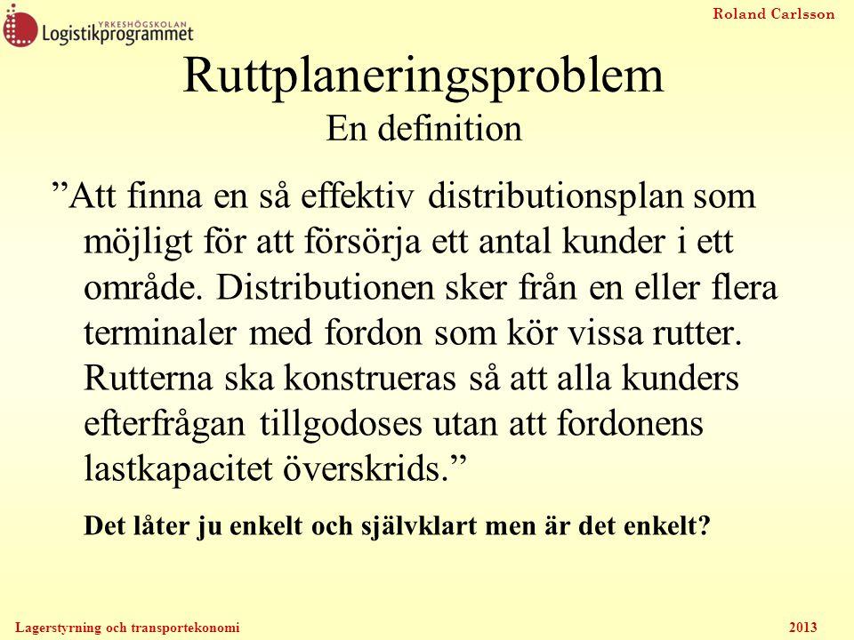 Ruttplaneringsproblem En definition