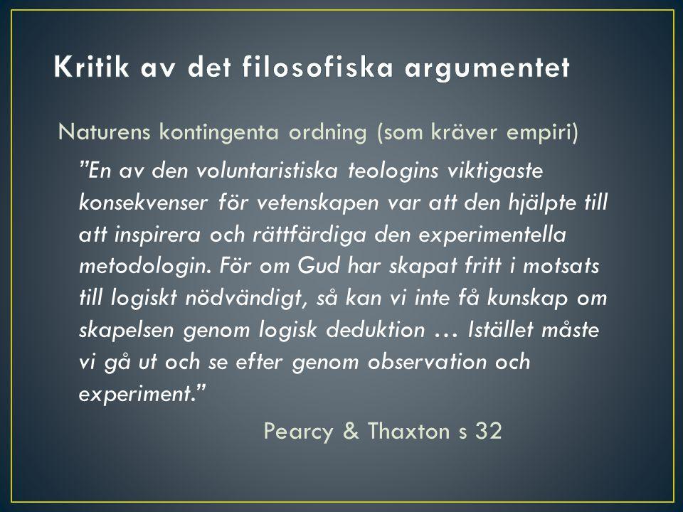 Kritik av det filosofiska argumentet