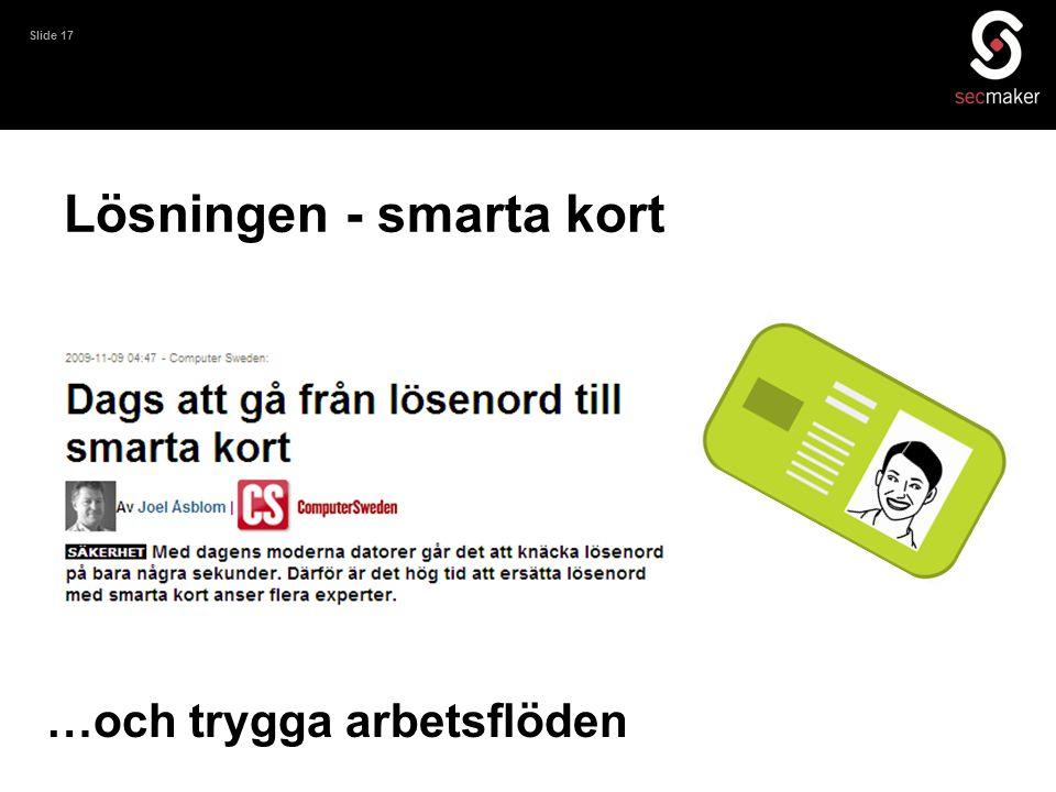 Lösningen - smarta kort