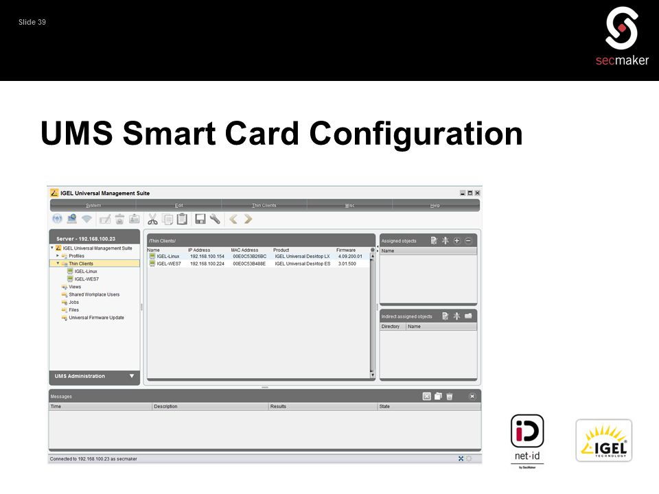 UMS Smart Card Configuration