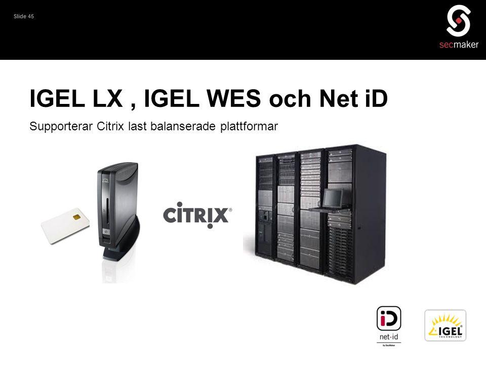 IGEL LX , IGEL WES och Net iD
