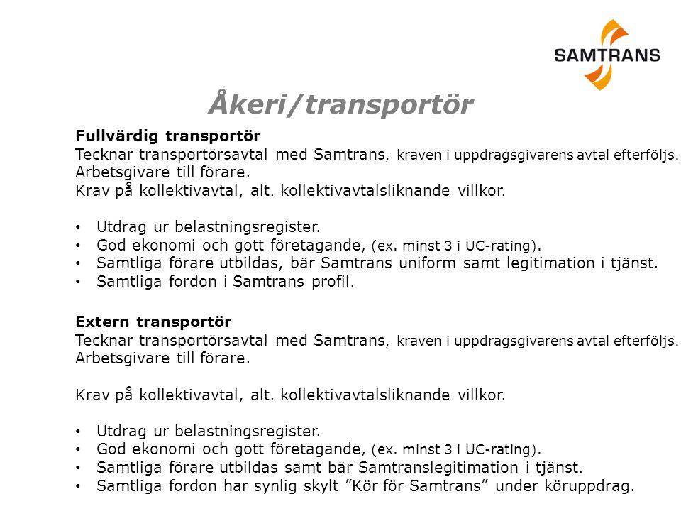 Åkeri/transportör