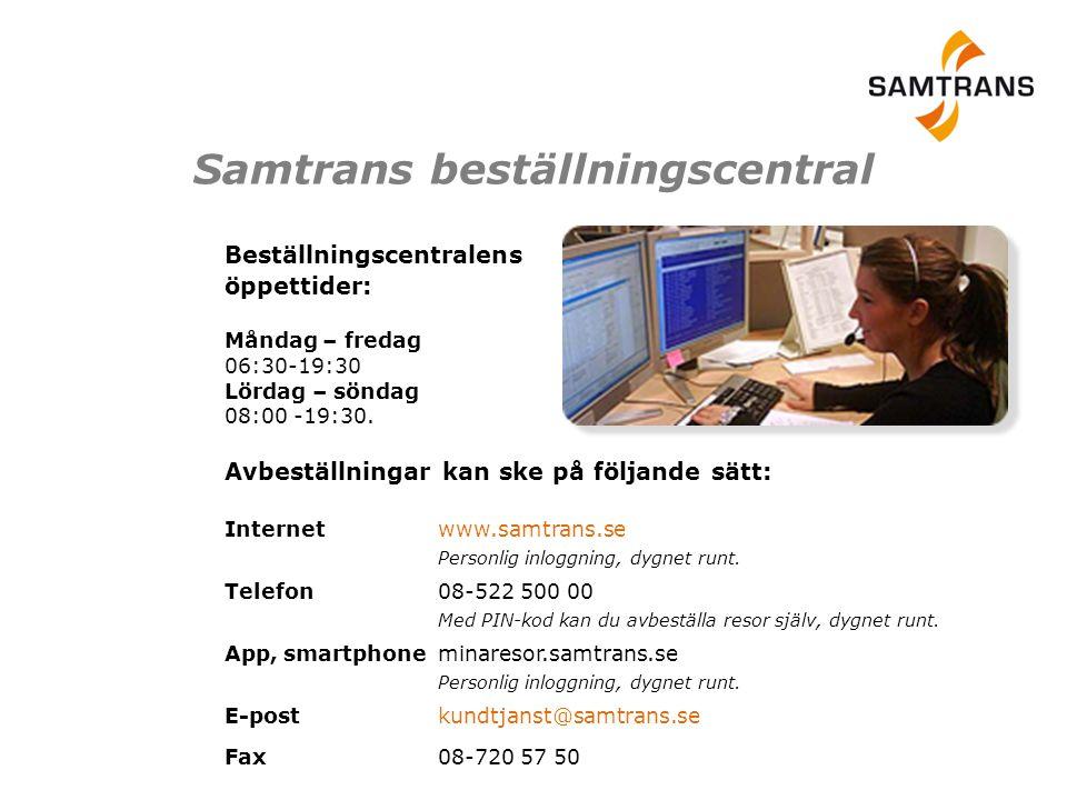 Samtrans beställningscentral