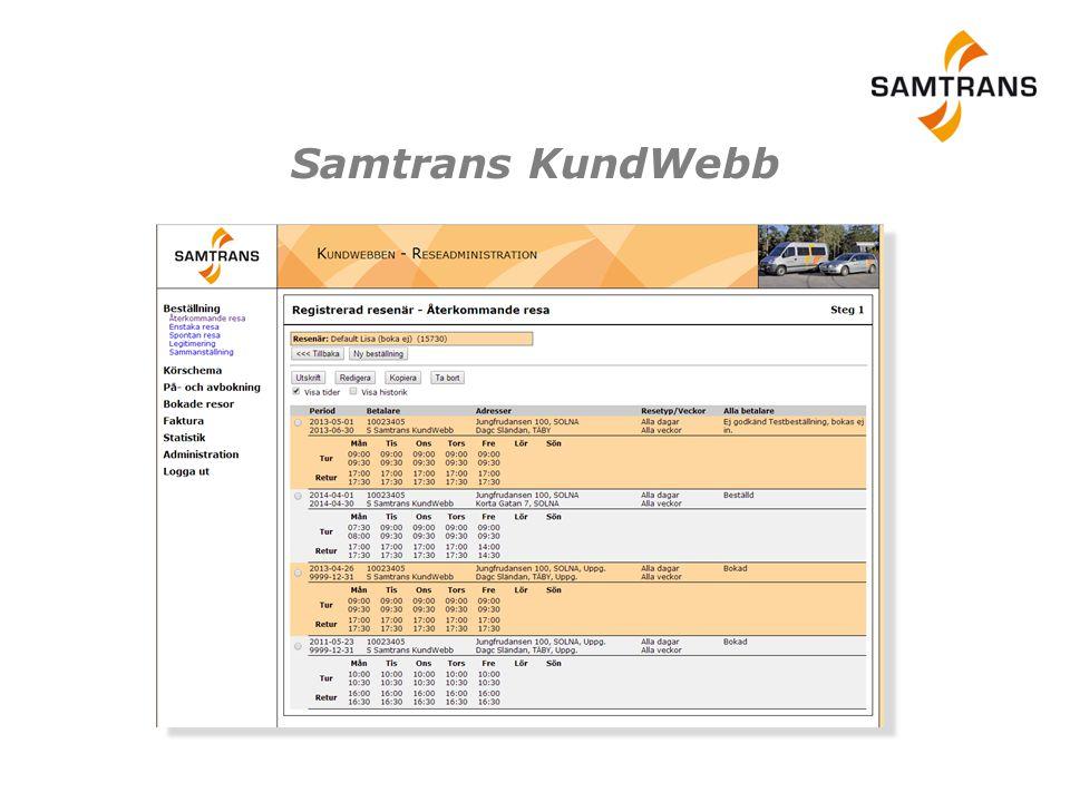 Samtrans KundWebb