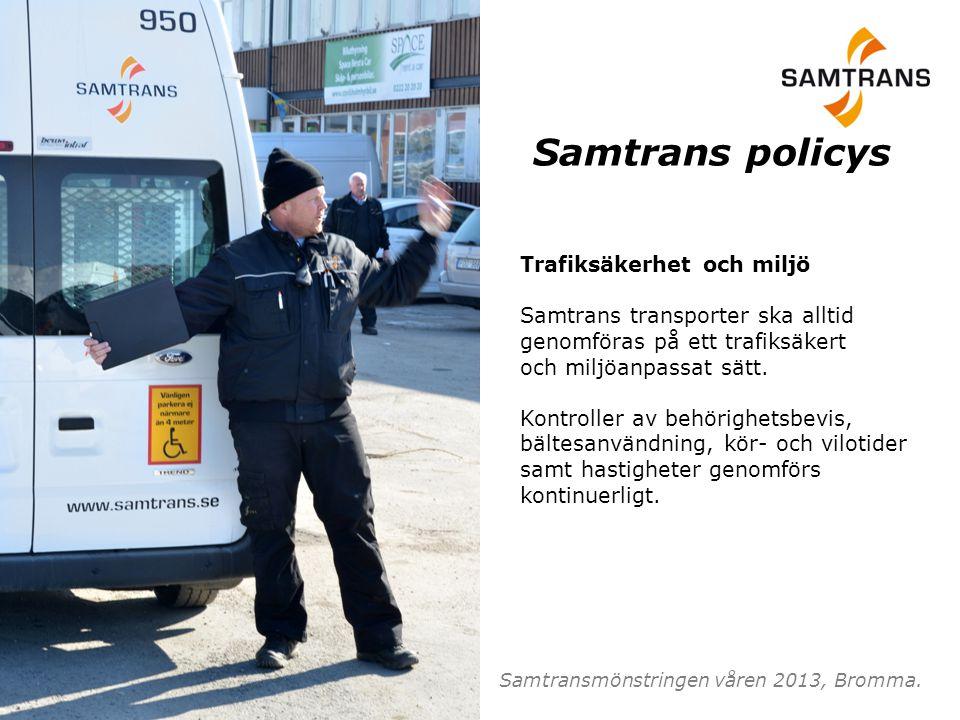 Samtrans policys Trafiksäkerhet och miljö