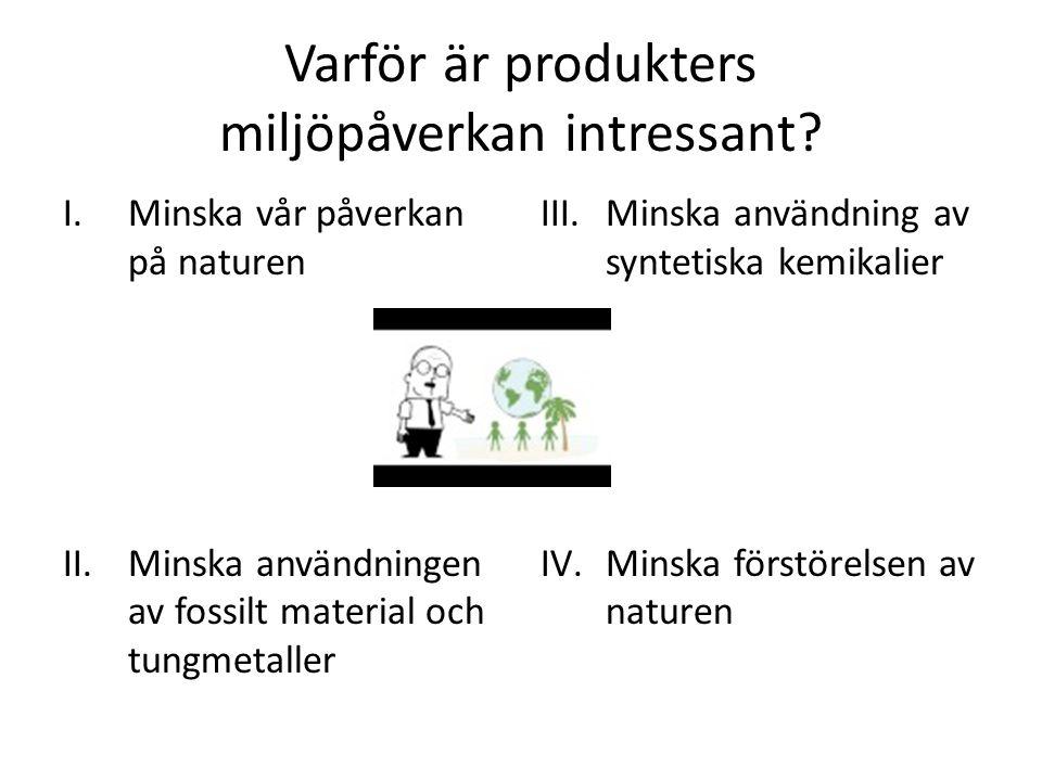 Varför är produkters miljöpåverkan intressant