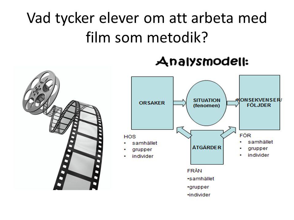 Vad tycker elever om att arbeta med film som metodik
