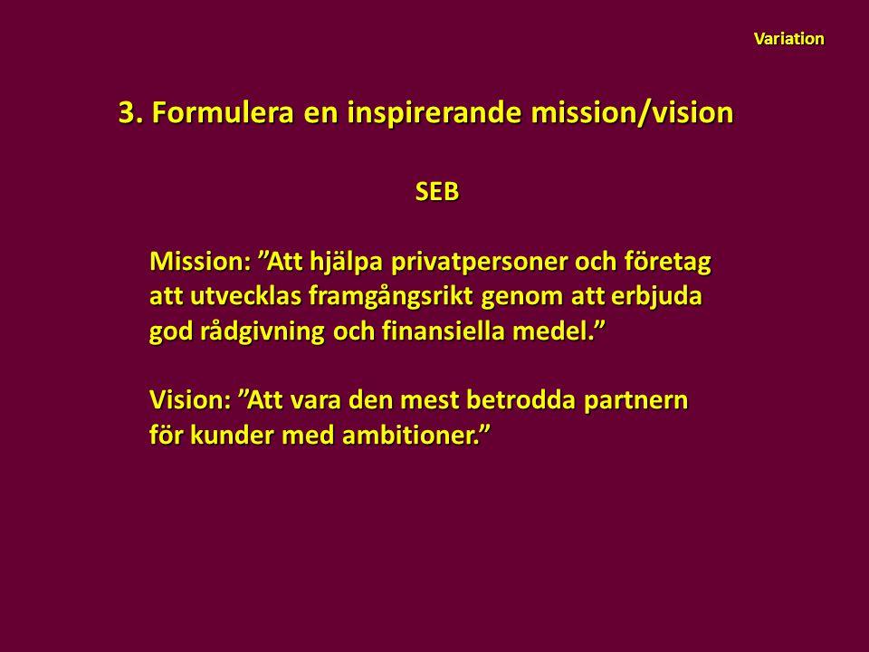 3. Formulera en inspirerande mission/vision