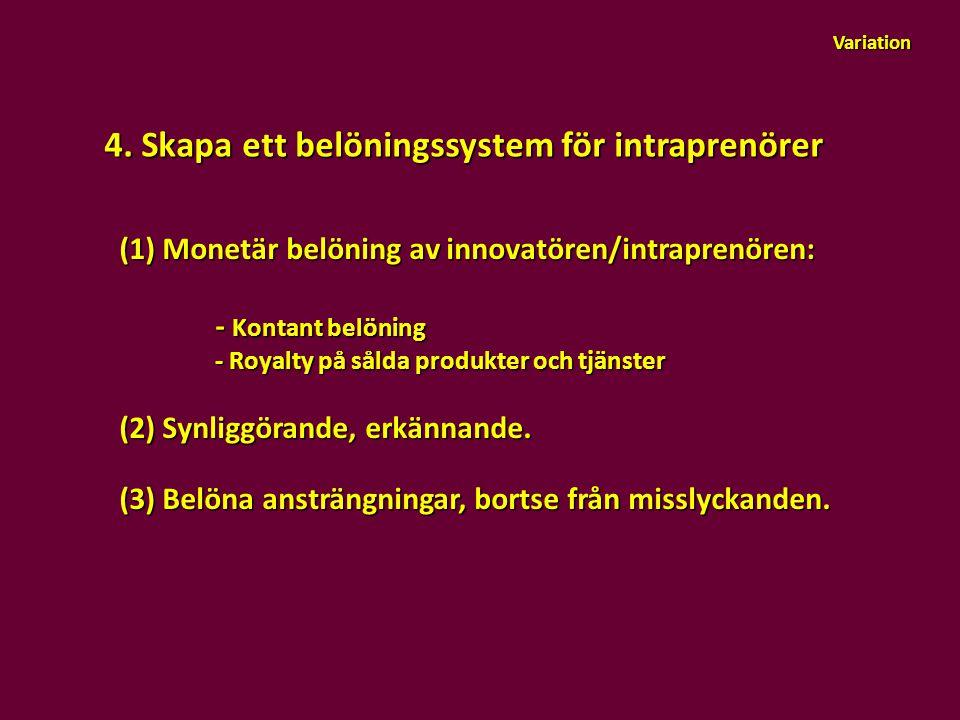 4. Skapa ett belöningssystem för intraprenörer