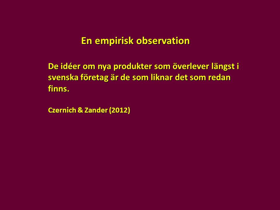 En empirisk observation