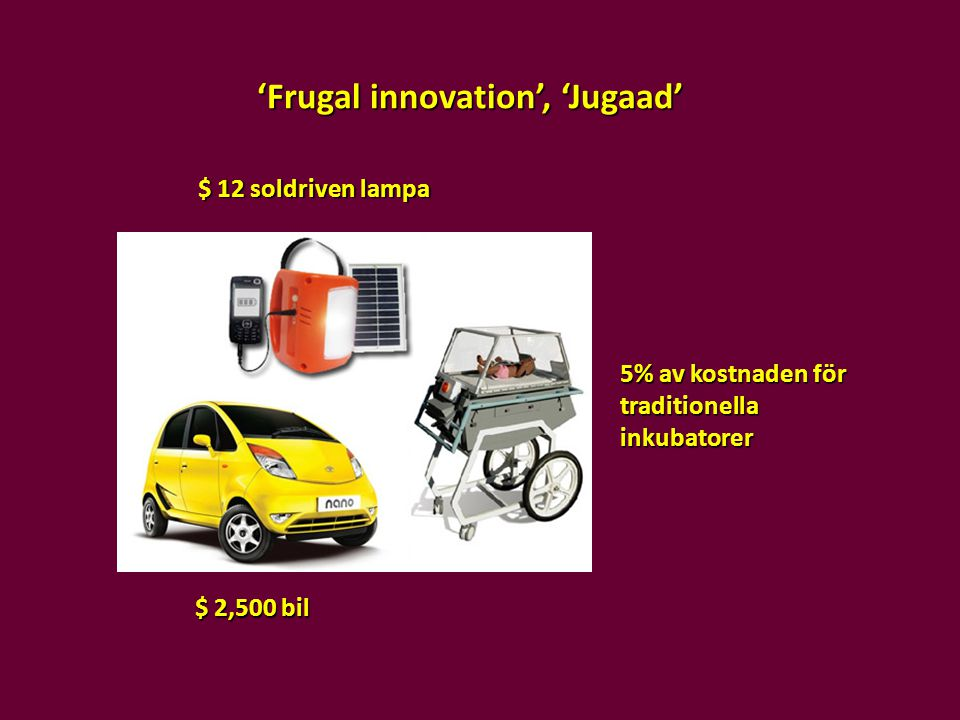 'Frugal innovation', 'Jugaad'