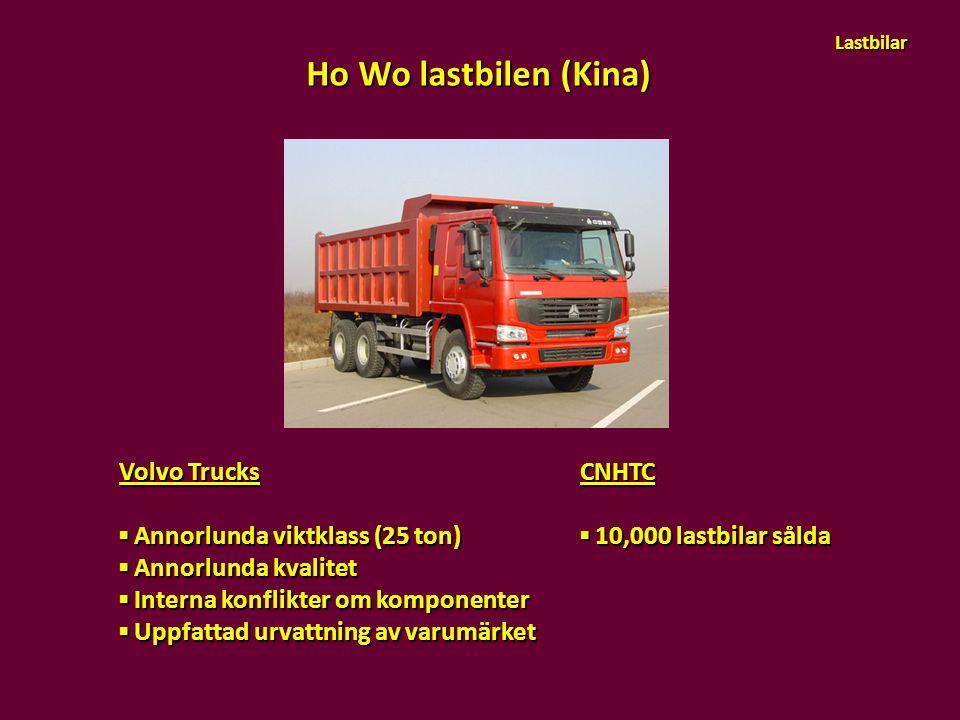 Ho Wo lastbilen (Kina) Volvo Trucks ▪ Annorlunda viktklass (25 ton)