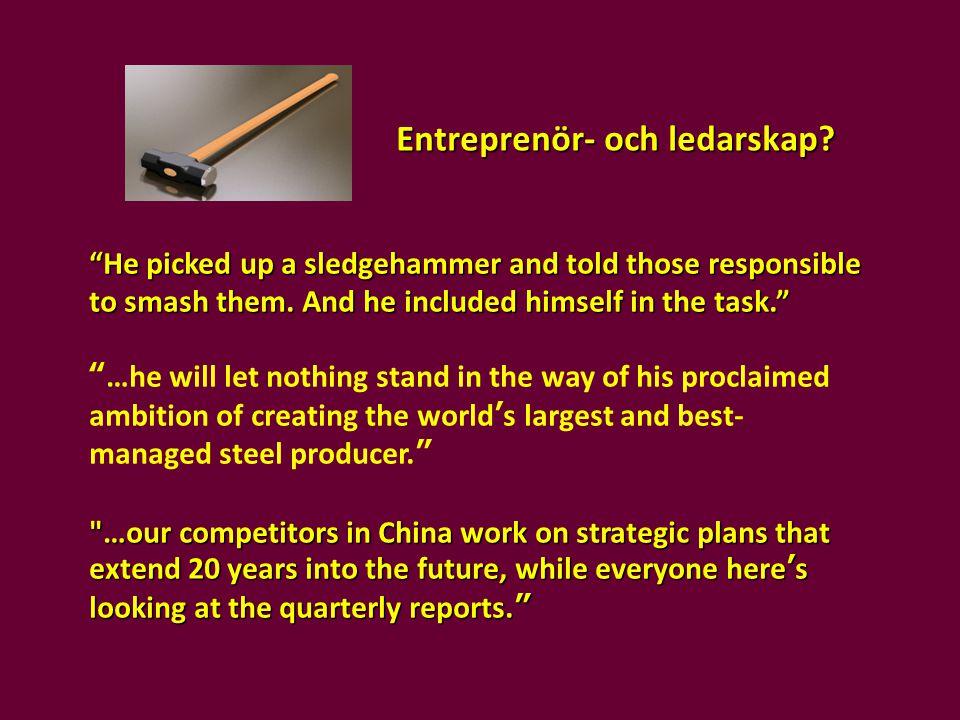 Entreprenör- och ledarskap