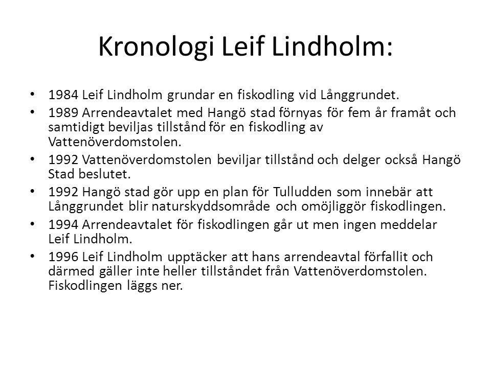 Kronologi Leif Lindholm: