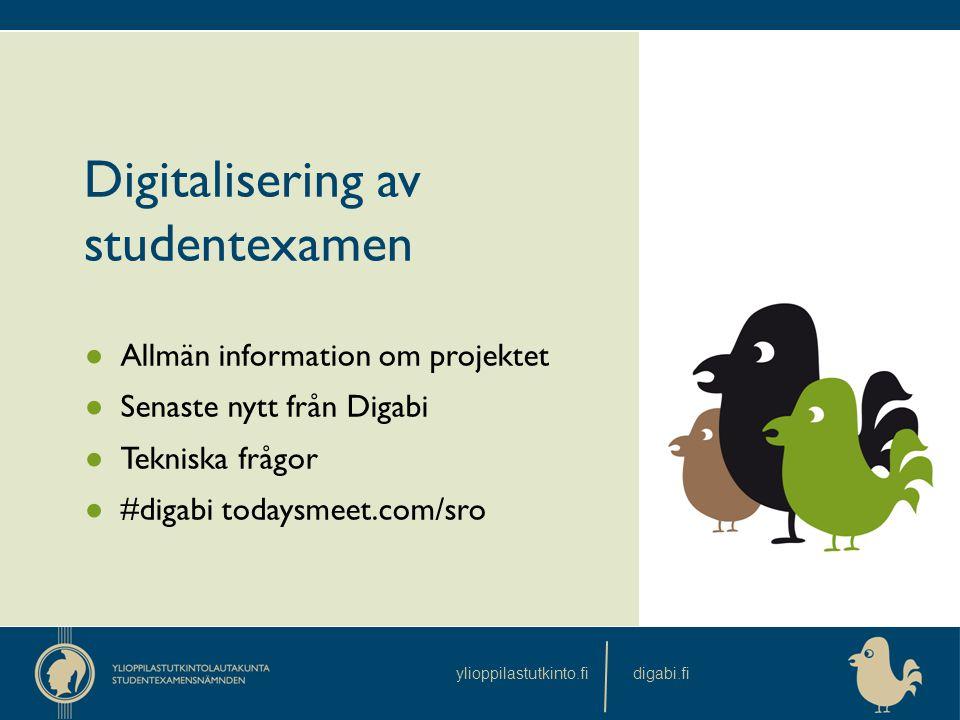 Digitalisering av studentexamen