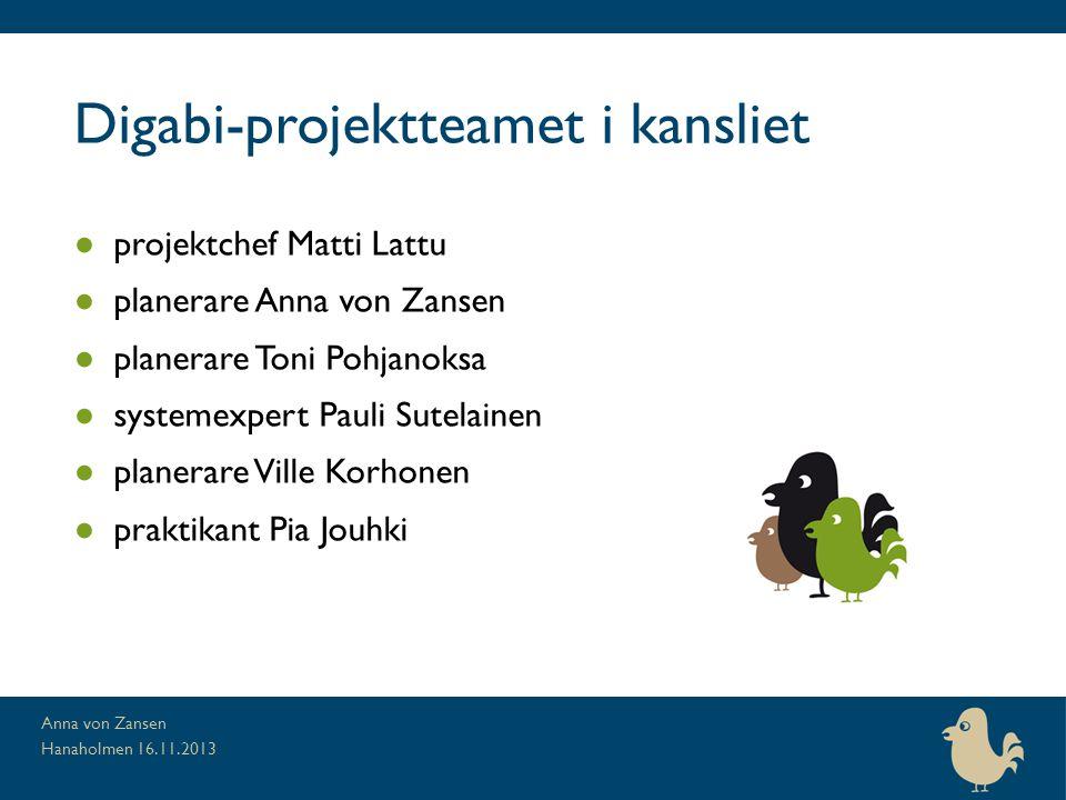 Digabi-projektteamet i kansliet