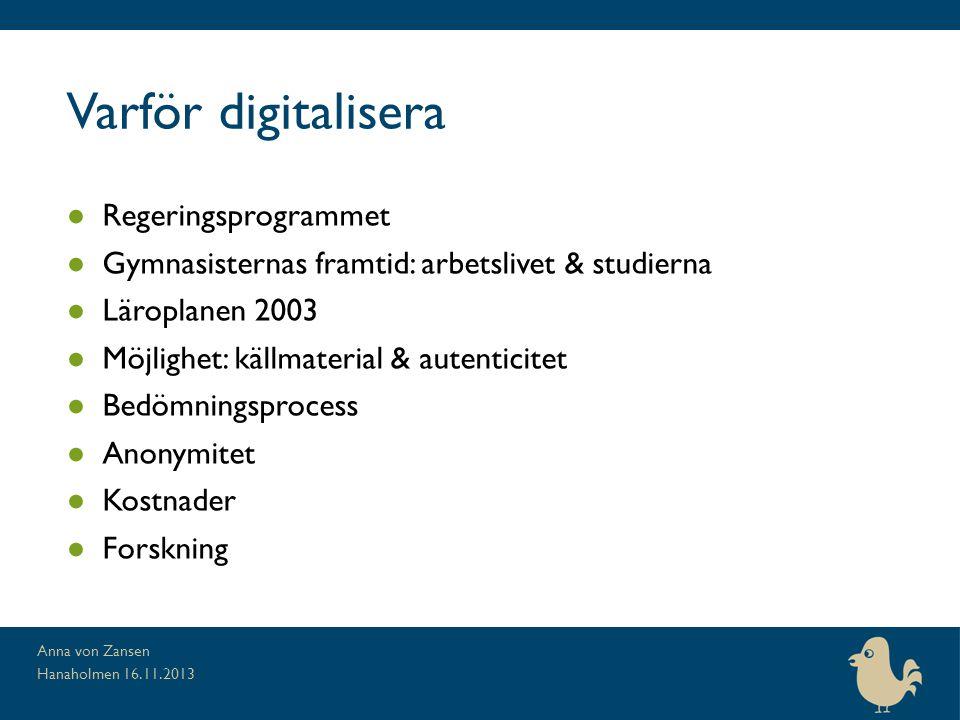 Varför digitalisera Regeringsprogrammet