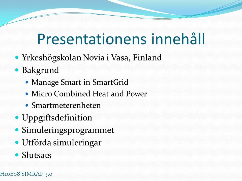 Presentationens innehåll