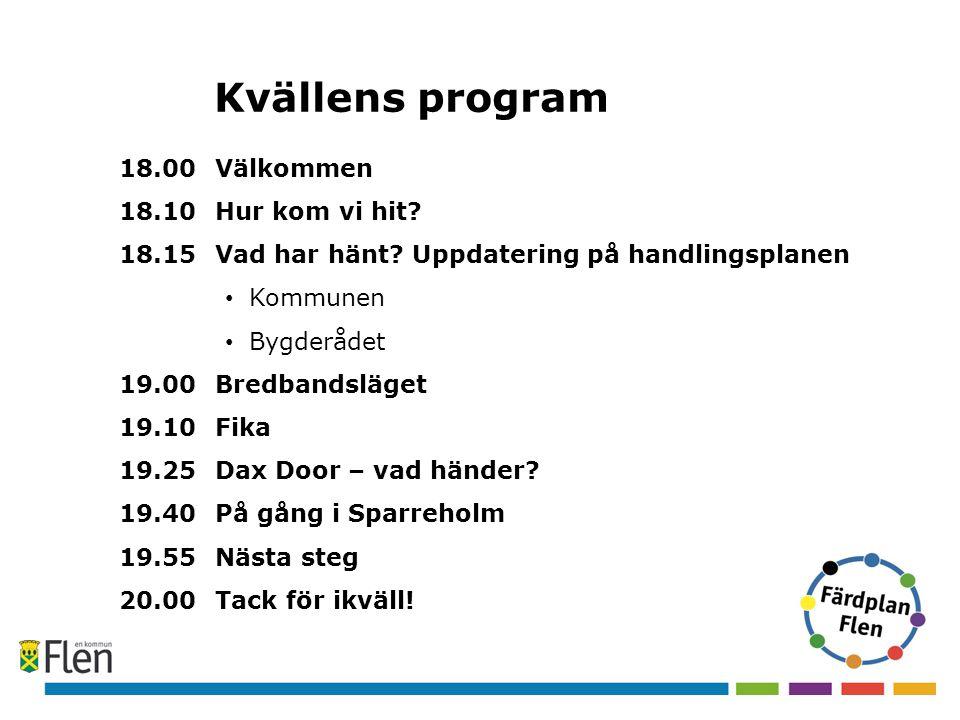 Kvällens program 18.00 Välkommen 18.10 Hur kom vi hit