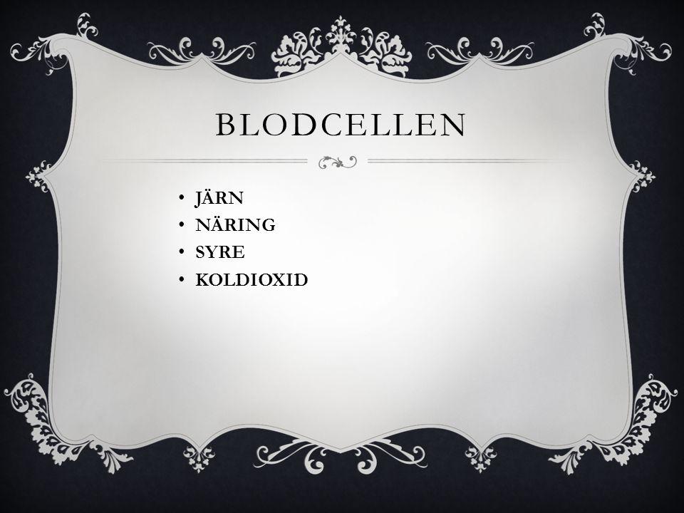 bloDcelLEN JÄRN NÄRING SYRE KOLDIOXID