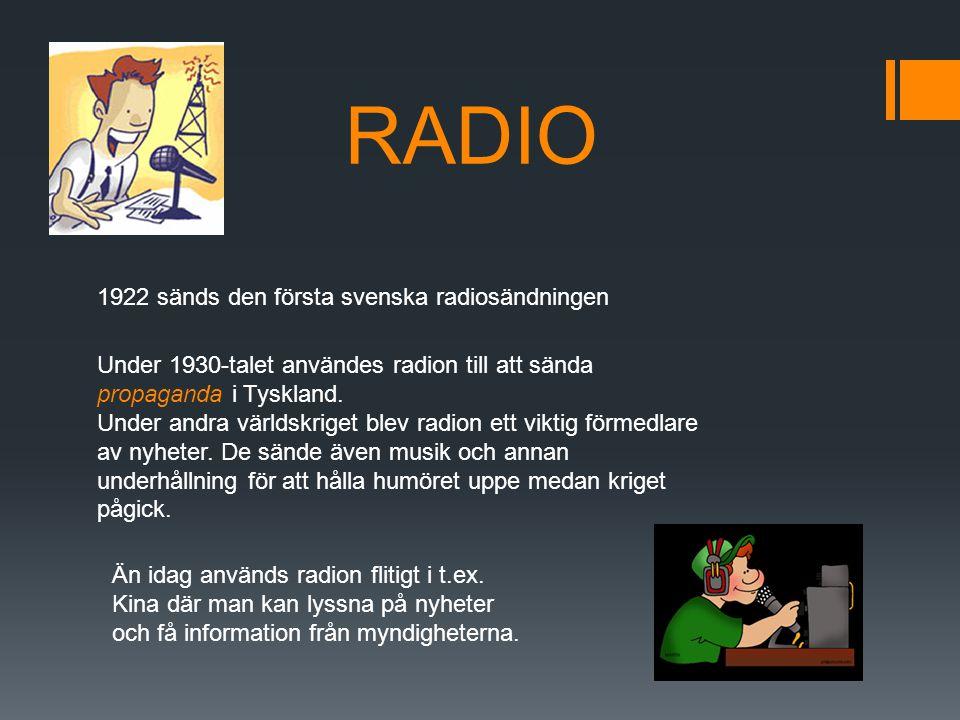 RADIO 1922 sänds den första svenska radiosändningen