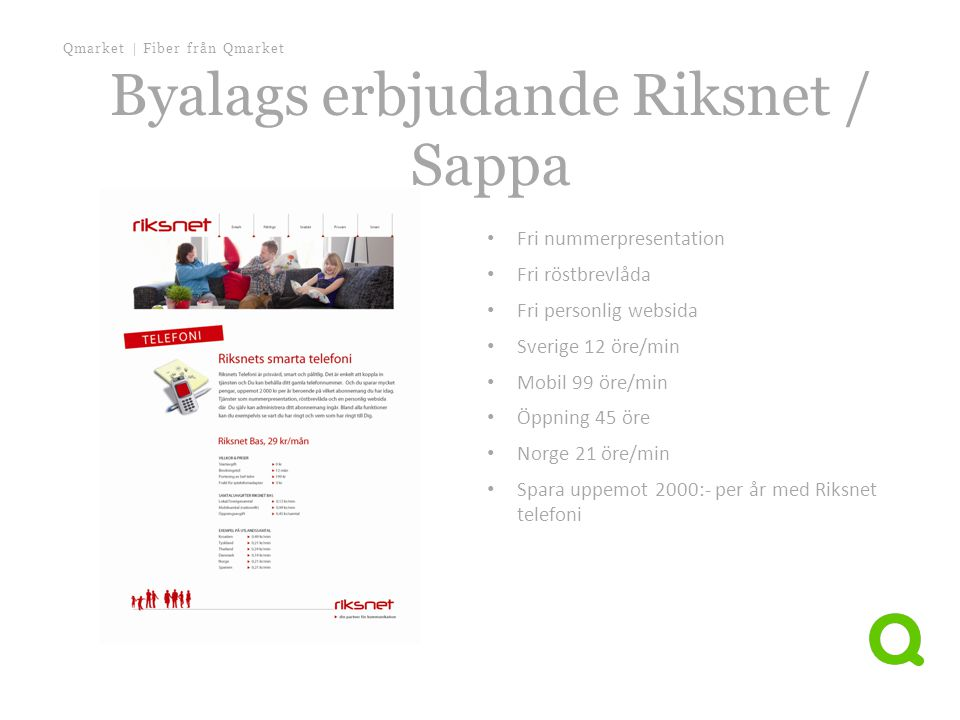 Byalags erbjudande Riksnet / Sappa