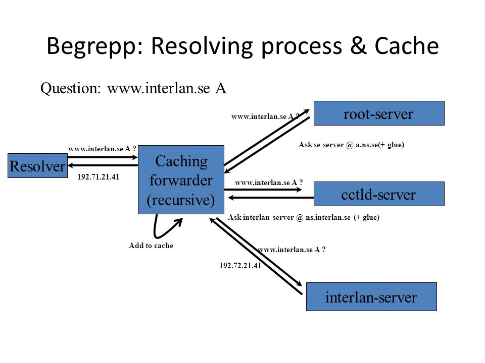 Begrepp: Resolving process & Cache