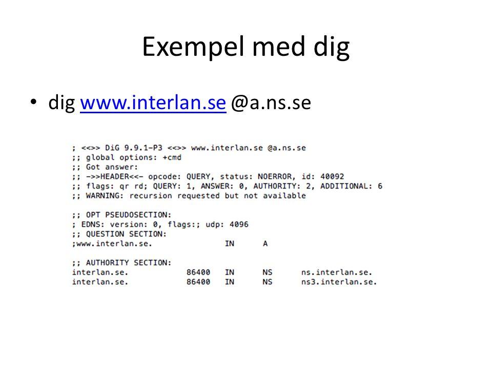 Exempel med dig dig www.interlan.se @a.ns.se