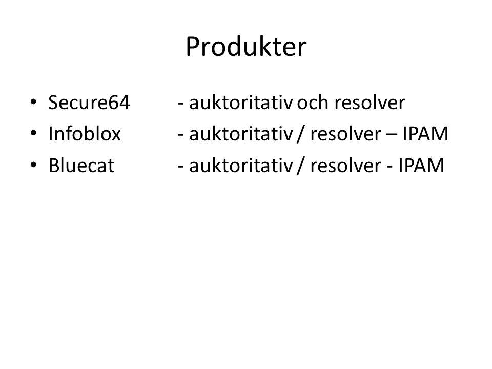 Produkter Secure64 - auktoritativ och resolver