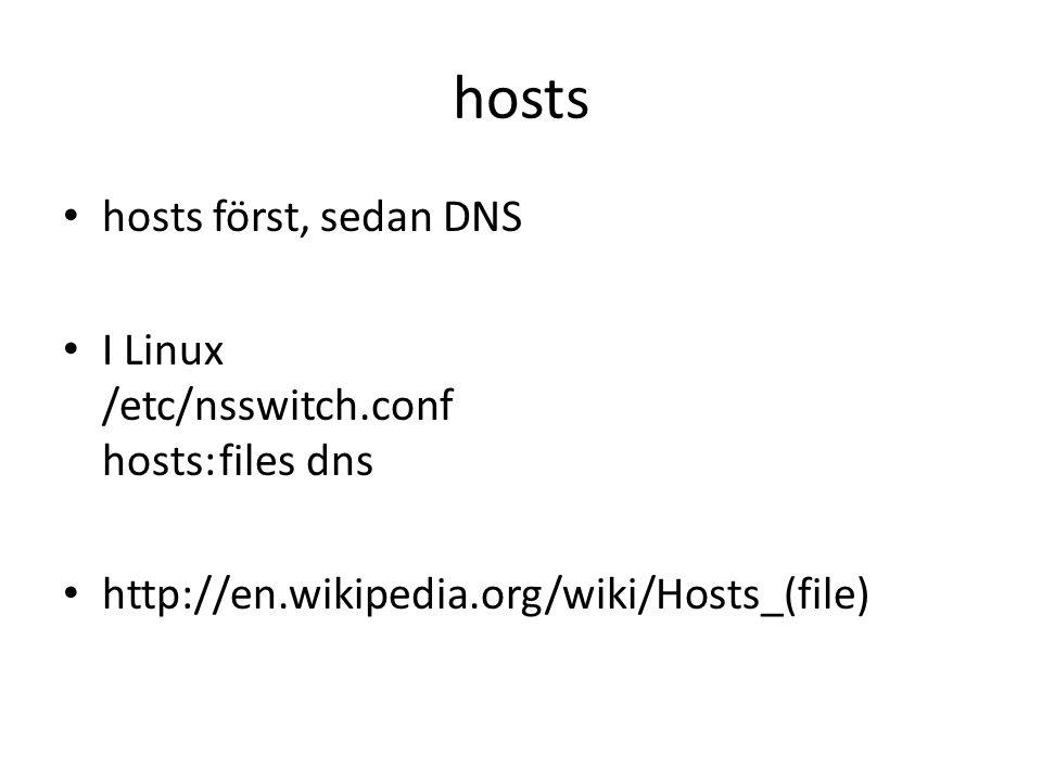 hosts hosts först, sedan DNS